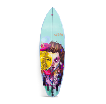 Board Inks Surfboard