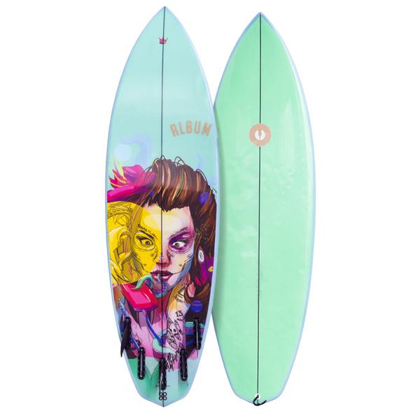 Board Inks Surfboard